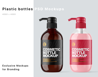 Plastick Bottles Mockups