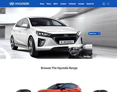 HYUNDAI Website Redesign Concept