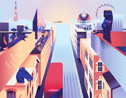 Airbnb trips – London poster