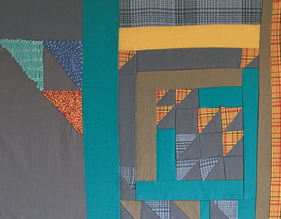 Fiber Art: Triangle Plaid