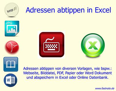 Adressen abtippen in Excel Adresseingabe