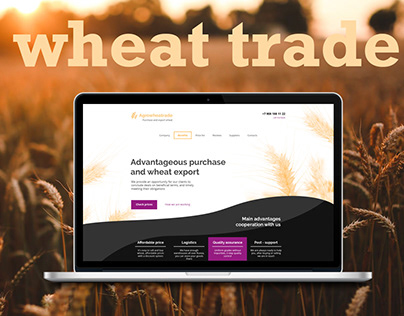 Sells and exports wheat landing page