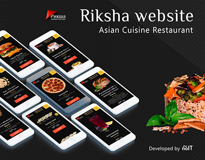 Website development for food delivery restraunt Riksha