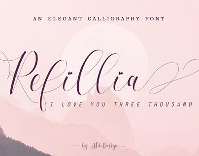 FREE | Refillia Beautiful Script Font