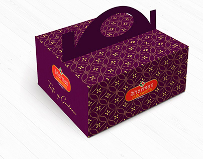 Cake box Packaging for Sharman Jain Sweets