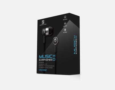 Packaging Design for Earphones