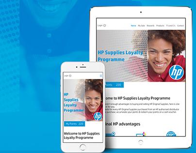 HP Supplies Loyalty Programme Portal - UI UX Design
