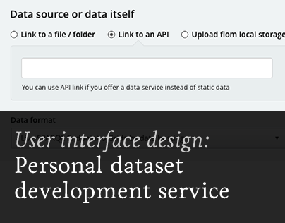 Personal dataset development service