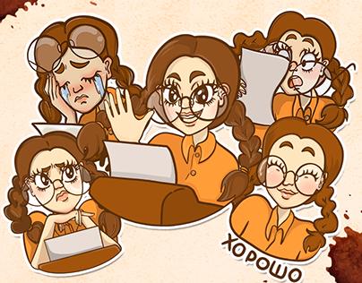 Writergirl Stickers