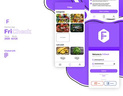 FriCheck UI/UX Concept App
