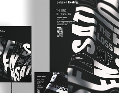 """Delusion Floating"" — Typografik Poster"