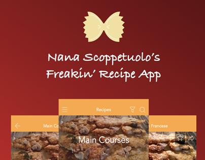 Nana Scoppetuolo's Freakin' Recipe App