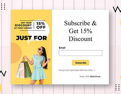 Mailchimp Subscriber Popup Form Design