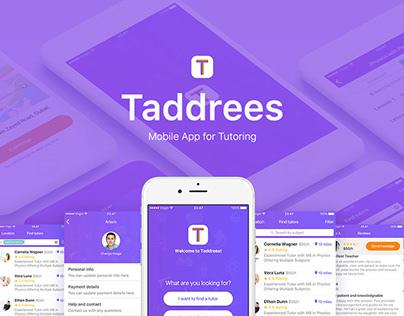UX/UI Design for Taddrees Mobile App