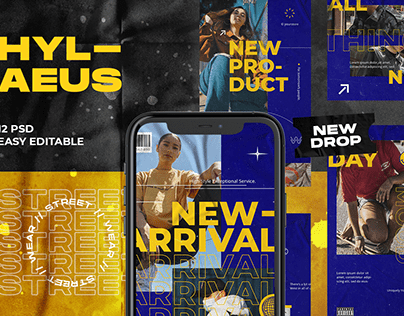 Hylaeus Streetwear Instagram Template