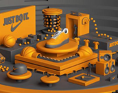 Nike Basketball Shoes - 3D Modeling