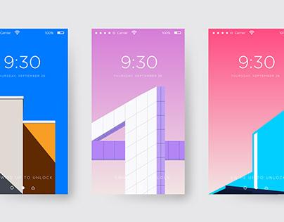 Minimal Mobile Wallpapers Illustration
