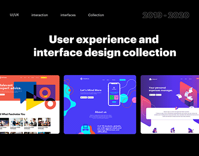 User experience and interface design collection