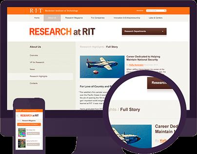 Research Magazine Site