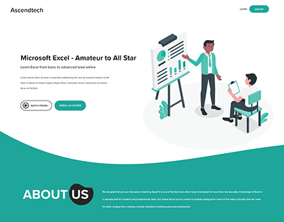 Landing Page : Teachable CMS based for Teaching Courses