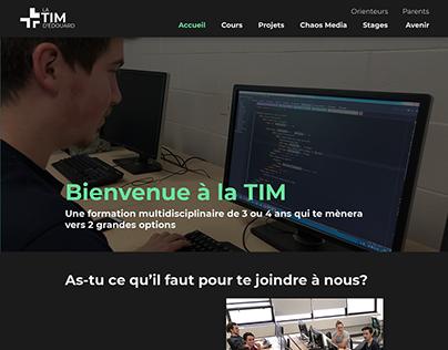 La TIM d'Édouard   Refonte de site web