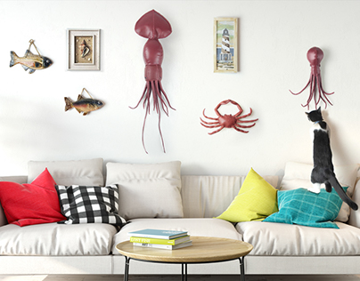 Colossal squid on your wall