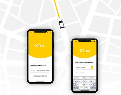 XTaxi APP Design