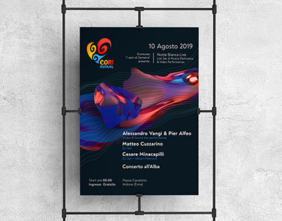 Co.Ri Festival | White Night of Electronic Music Poster