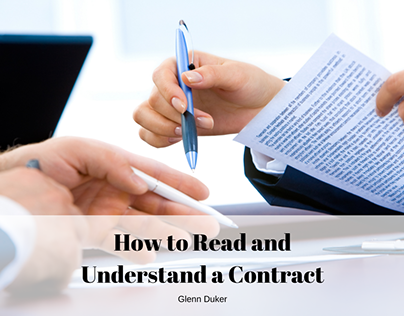 How to Read and Understand a Contract | Glenn Duker