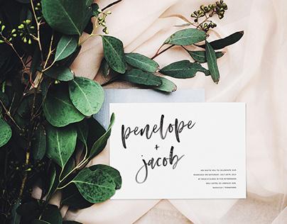 Wedding Invitation Template - Modern Minimalist