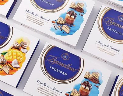 "Design of chocolates TM ""Inspiration. Fruzhipan"""