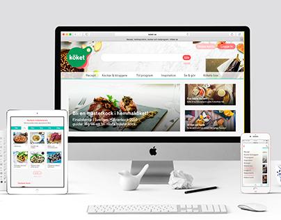 Köket.se - omstrukturering/responsiv webbdesign
