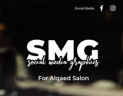 Social Media Graphics (SMGs) for #alqaedsalon