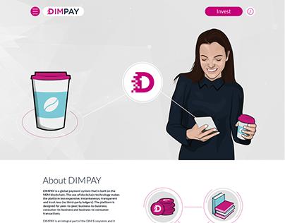 DIMPAY Website Screen Design