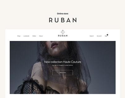 Ruban—E-commerce website redesign