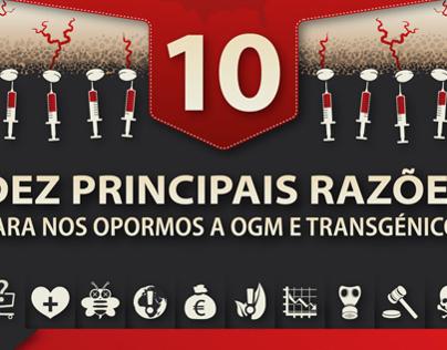 INFOGRAPHICS | NO GMO! (In Portuguese)
