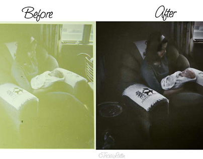 Retouching of 1960s Color Photo