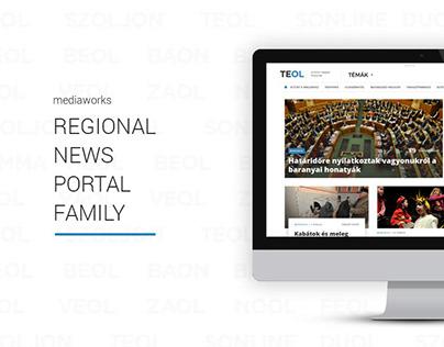 Design of the mediaworks regional news portal family