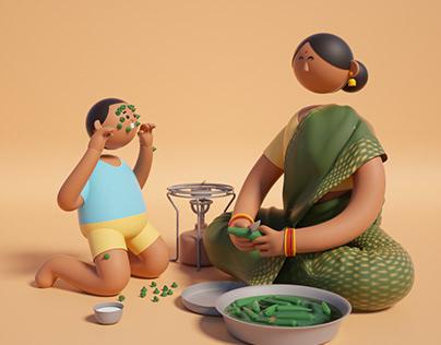 Mother's Day 3D Illustration