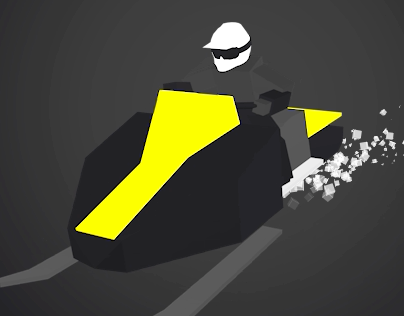 Low Poly Snowmobiling