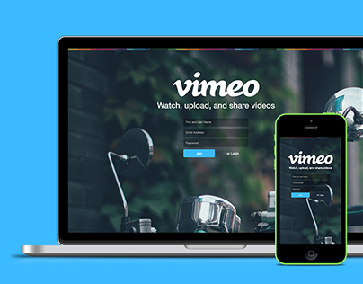 Vimeo Login Form Redesign