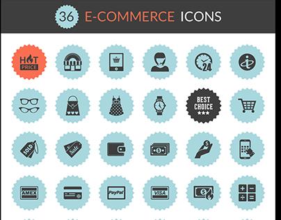Exclusive Freebie : 36 e-Commerce Icons