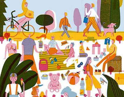kidney & health illustrations