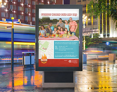 CDA Summer BBQ Fair poster design