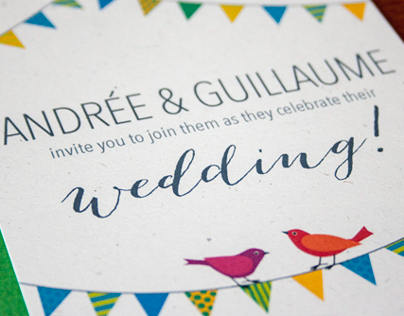 Andrée & Guillaume's Cottage Wedding Invitation