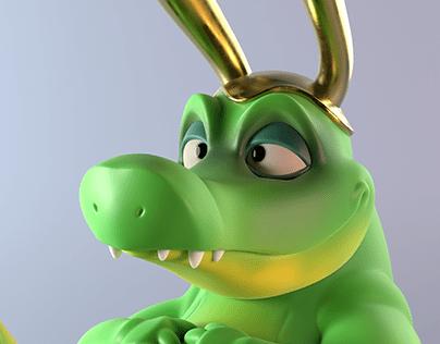 Loki alligator - 3D Printing