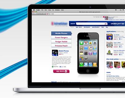 Web based native mobile apps generator