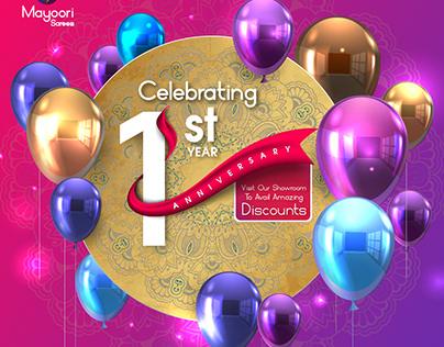 Mayoori sarees is celebrating first anniversary