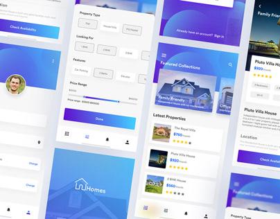 Home Rent App UI