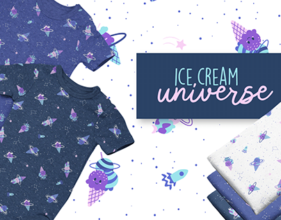 Ice Cream Universe Pattern